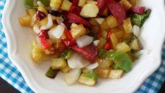 Renkli Patates Kavurması Tarifi – Sebze Yemekleri