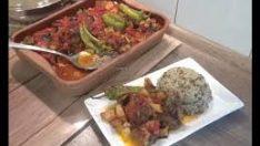 Izgarada Tavuk Çöp Şiş, Fırında Sebze Dizmesi ve Şehriyeli Bulgur Pilavı Tarifi – Bugün Ne Pişirsem?